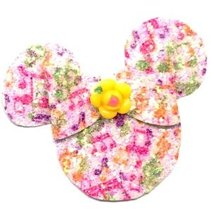 Glitter Music Notes Mouse Hair Bow
